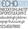 INNER ECHO retro striped rounded font vector image