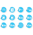 Set of 12 stickers with transport icon vector image