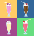 Milk-shakes vector image