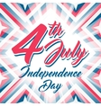 American Independence day 4th July background vector image