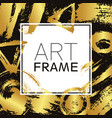art frame square gold gradient elements brush vector image