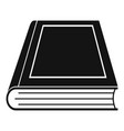 book closed icon simple black style vector image