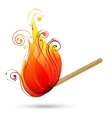 Burning match vector image
