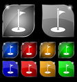 Golf icon sign Set of ten colorful buttons with vector image