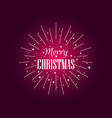 merry christmas postcard with rays of burst vector image