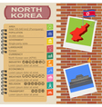 North Korea infographics statistical data sights vector image