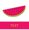 Watermelon slice card llustration vector image