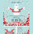 wedding bridal shower invitationsbride dress vector image