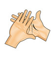 drawing hand man clap gesture icon vector image