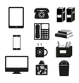 accessory bw vector image vector image