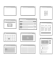 web site page templates collection vector image vector image