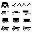 Mining tools and transport vector image vector image