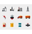 Petrol production oil refining and petroleum vector image vector image