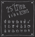 draw drink icons set vector image