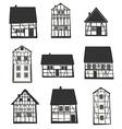 Half-timbered houses vector image vector image