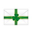 st patricks envelope vector image vector image
