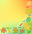Autumn Background with fallen leaves and blank spa vector image