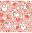 cupids seamless pattern for Valentines Day vector image