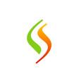 Letter s swoosh logo vector image