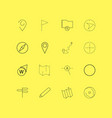 map and navigation linear icon set simple outline vector image