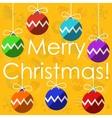 Merry christmas with christmas balls vector image