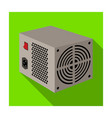 power supply unit icon in flat style isolated on vector image