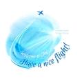 Watercolor Blue Texture vector image