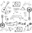 Doodle of stock music theme vector image