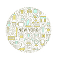Web Banner or Emblem New York vector image