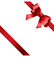 Red bow and ribbon 2 vector image