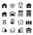 home icons set vector image