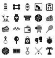 basketball training icons set simple style vector image