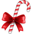 Christmas candy and bow vector image