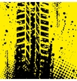 Yellow tire track wallpapper vector image