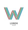 LOREM ipsum W vector image