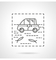 Car insurance icon Flood vector image