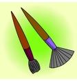 Brush Pop art vector image