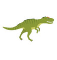 allosaurus prehistoric animal vector image