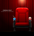 cinema seat vector image
