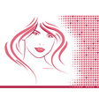 Hair and Hearts vector image