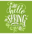 Hello spring Brush calligraphy card vector image