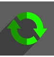 Refresh reload flat icon badge vector image