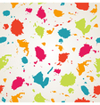 Watercolor paint stains seamless patternCopy vector image
