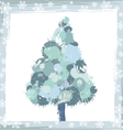 winter background with a pine tree and snowflakes vector image