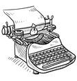 doodle typewriter vector image