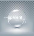 modern transparent circle lens sphere glass vector image