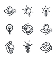 Idea icons set vector image