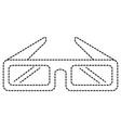 3d glasses cinema icon vector image