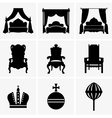 King beds and thrones vector image vector image