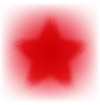 Star Grunge Red vector image vector image